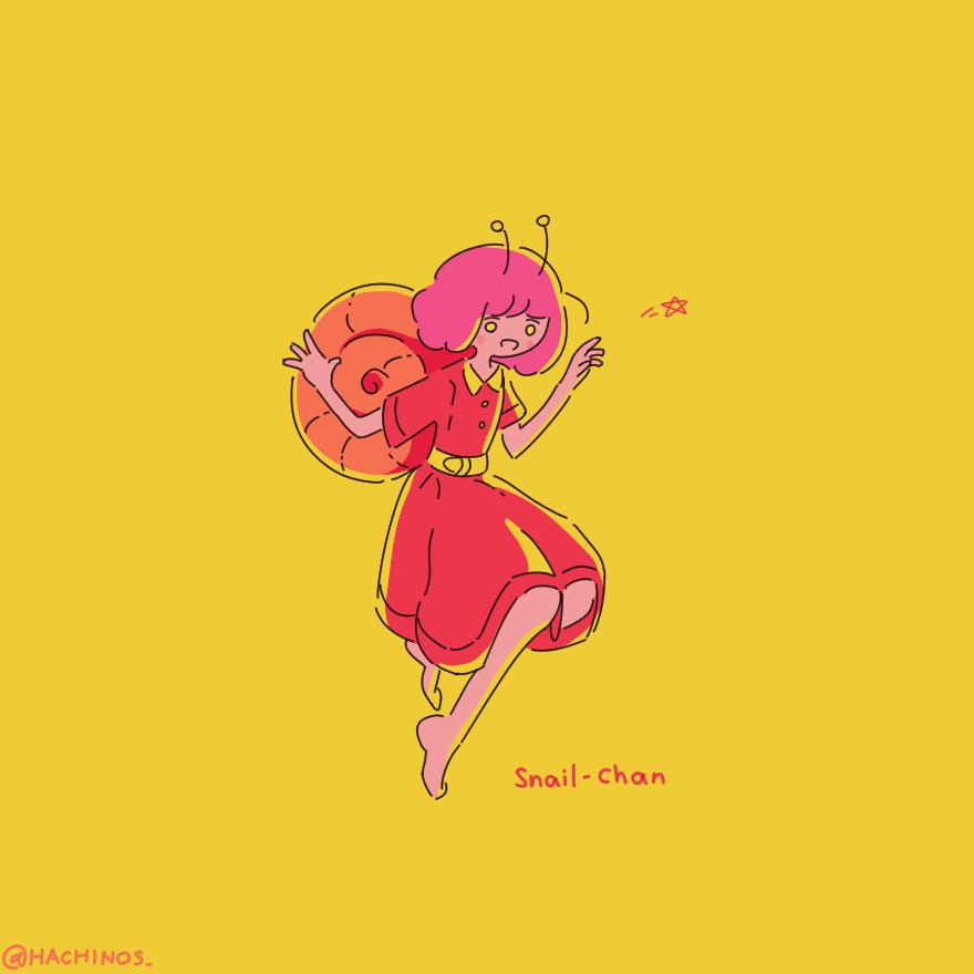絵】 Snail-Chan【Art#01】|はちのす|pixivFANBOX